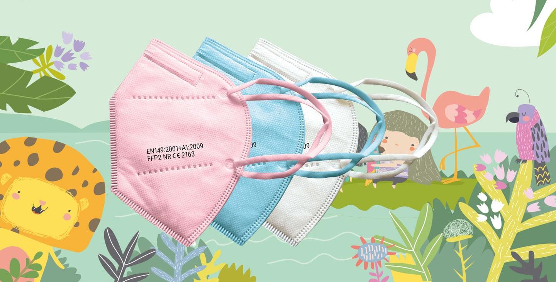 vicicare FFP2 Kindermasken in vielen Farben