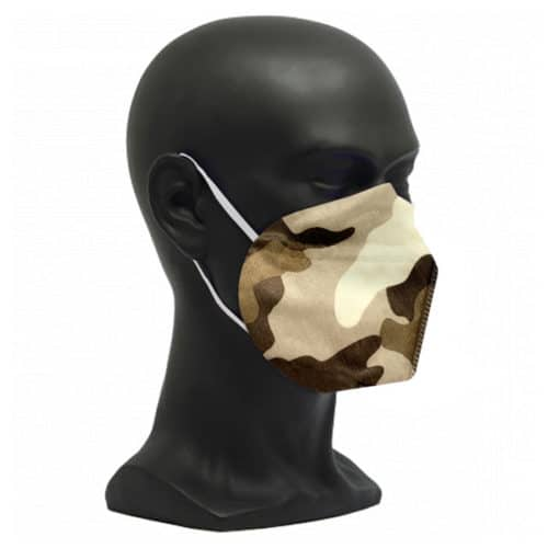 CE zertifizierte Atemschutzmaske FFP2 Camouflage braun