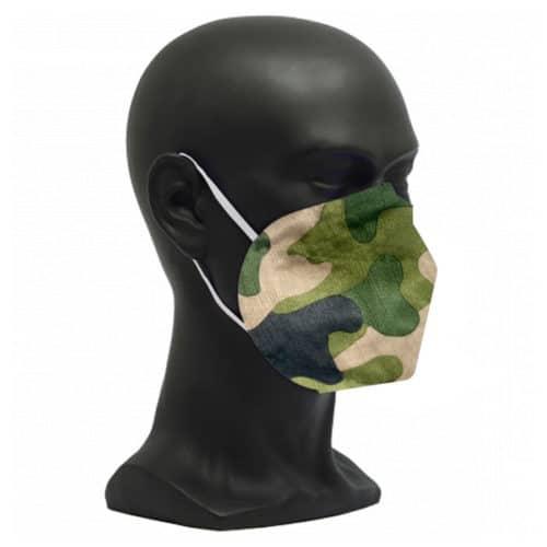 CE zertifizierte Atemschutzmaske FFP2 Camouflage grün