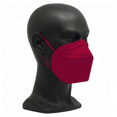 CE zertifizierte Atemschutzmaske FFP2 weinrot