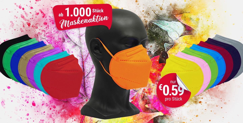 vicicare FFP2 farbige Schutzmasken Aktion 1000