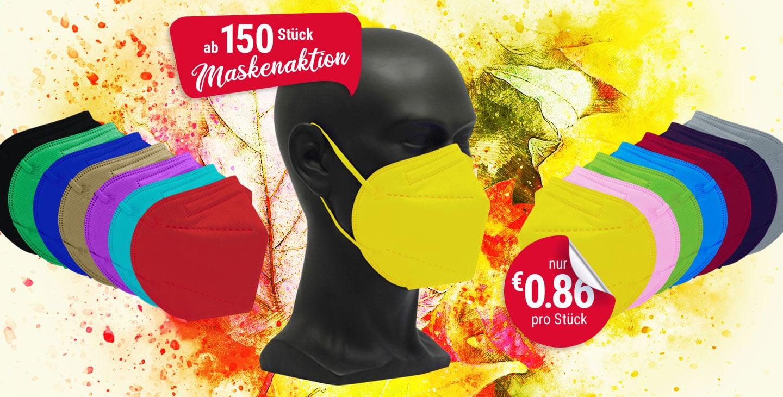 vicicare FFP2 farbige Schutzmasken Aktion 150