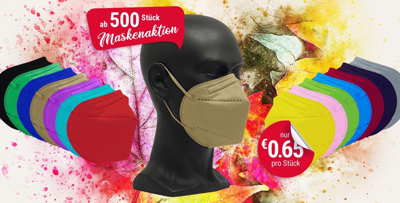 vicicare FFP2 farbige Schutzmasken Aktion 500