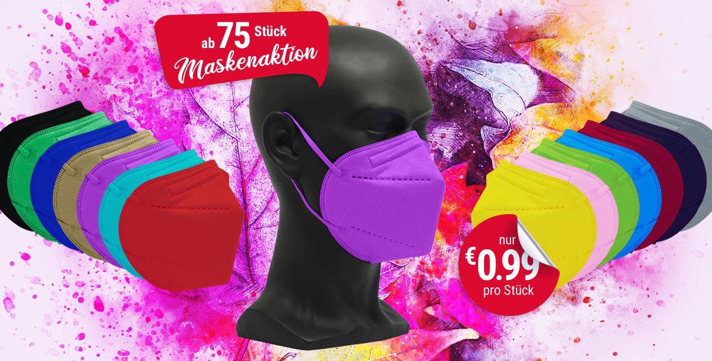 vicicare FFP2 farbige Schutzmasken Aktion 75