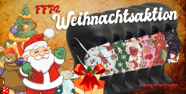 FFP2 Weihnachtsmasken Weihnachtsaktion